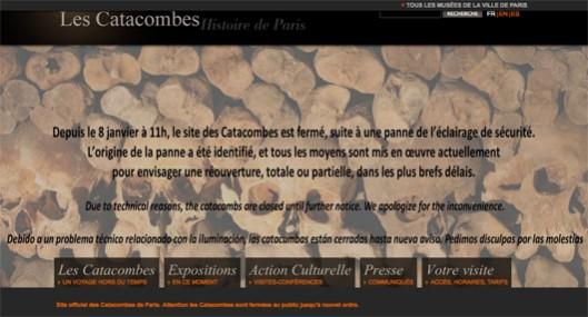 Catacombes.paris.fr : la panne est identifiée