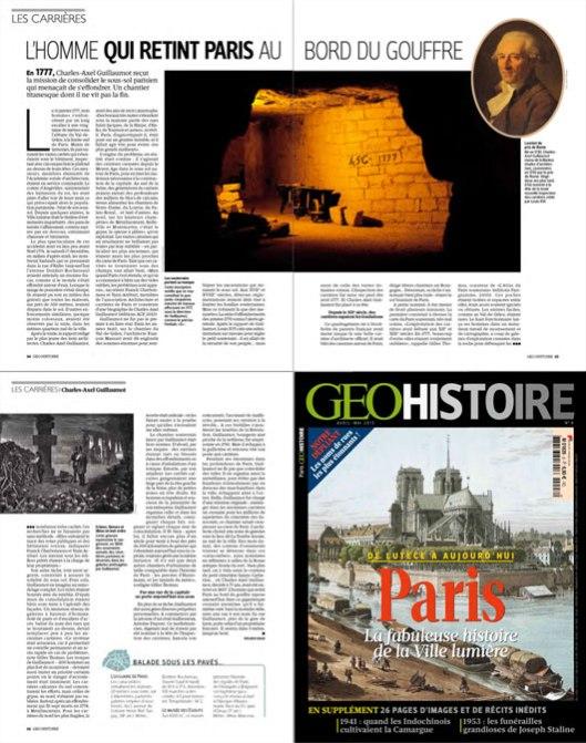 Géo histoire Paris, Catacombes et Guillaumot